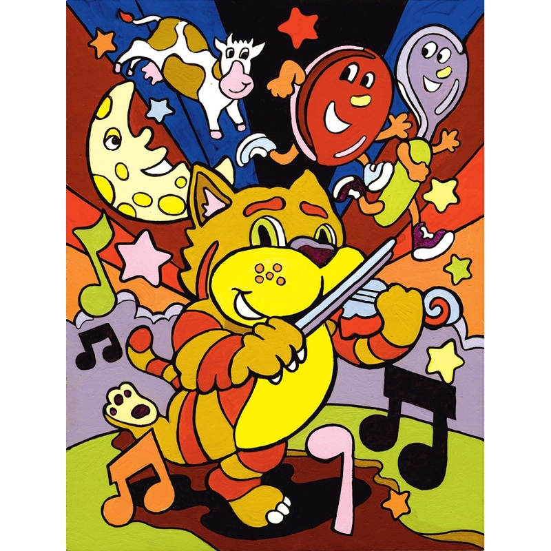 Prima mea pictura pe numere - Orchestra de pisici www.jadflamande.ro