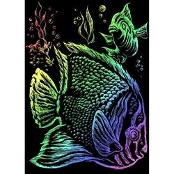 Mini gravura pe folie curcubeu - Pesti tropicali