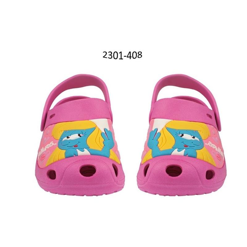 Incaltaminte tip Crocs premium copii cu Strumfita