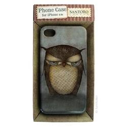 Husa rigida Eclectic pt iPhone 4/4s - Grumpy Owl
