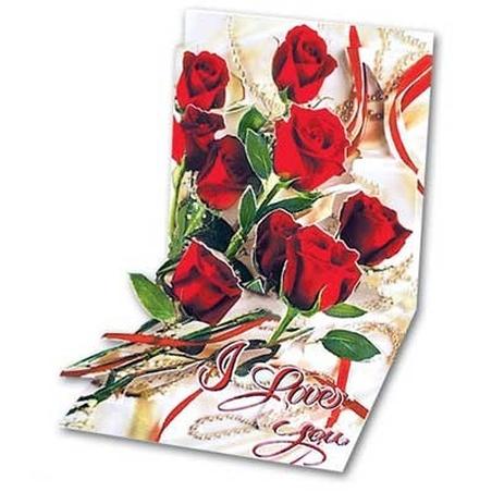 Felicitare 3D Roses