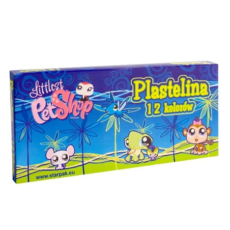 Plastilina 12 culori Littlest Pet Shop